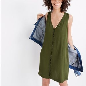 Madewell heather button front dress